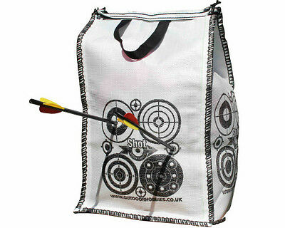 Archery Crossbow FILL YOURSELF Target Tower 4 Side Stop Arrow at 10ft 30x30x55cm