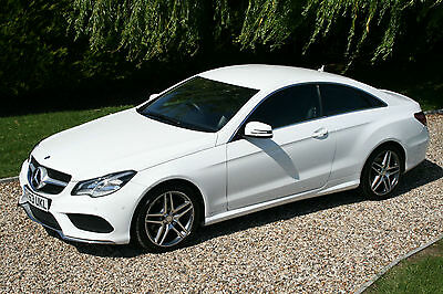 Mercedes-Benz E220 2.1CDI 2014 AMG Sport Coupe. Auto, White. Immaculate
