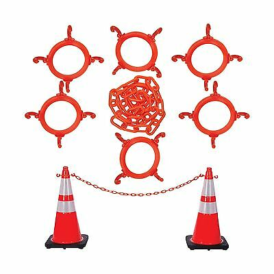 Mr. Chain 97413-KIT Cone Chain Connector Kit Traffic Orange