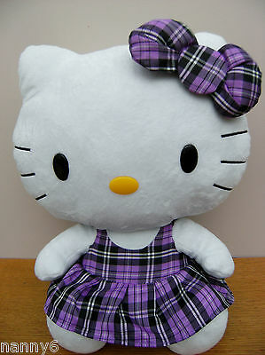 Ty Large HELLO KITTY Wearing Purple Outfit Soft Plush Toy