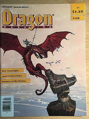 DRAGON magazines, lot of 5, 168, 169, 170, 171, 175. AD&D and RPG