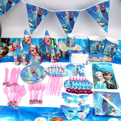 Frozen Theme Birthday Party Elsa Anna Supplies Favor Tableware Kids Decor Gift