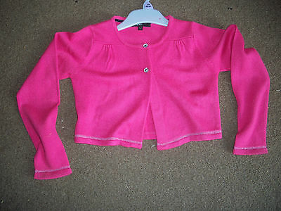 Girls pink cardigan size 6-7 years by Autograph