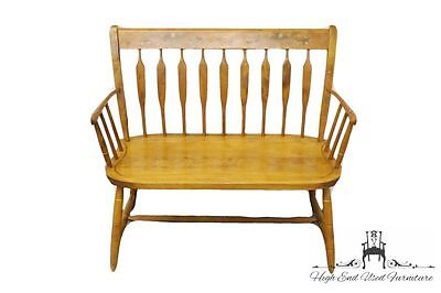 NICHOLS & STONE Hitchcock Style 36″ Maple Settee / Deacons Bench