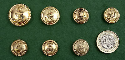 5+1 +1 vintage ROYAL NAVY brass buttons. 17&19 &24mm.Queens crown