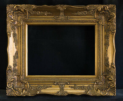 "Antique Reproduction Ornate Gold Frame 12"" x 16"", 4"" Wide, 2"" Thick"
