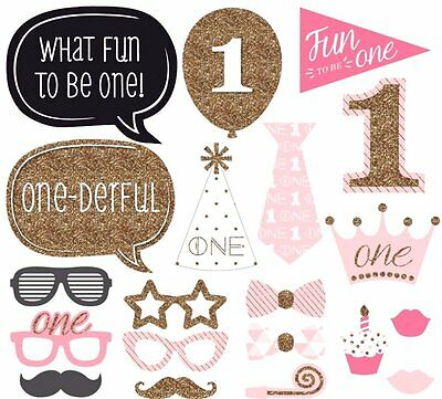 20 Pcs Selfie Photo Booth Party Props DIY 1st Birthday Party Glasses Moustache