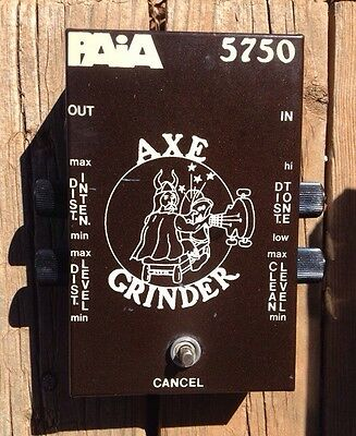 paia axe grinder 5750 Distortion Clean Boost Effect Pedal Vintage