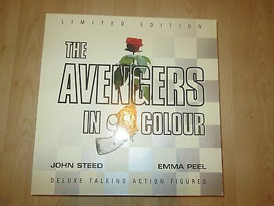 "The Avengers John Steed & Emma Peel 12"" Talking Figures (New Sealed Unused)"