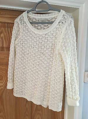 Primark Ladies Cream/White Jumper Size 10