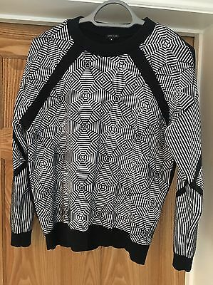 River Island Ladies Size 8 Black And White Jumper Sweater