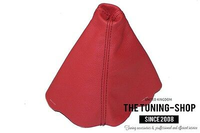 For Audi A4 B6 2001-2004 Gear Stick Gaiter Red Real Leather Black Stitching New