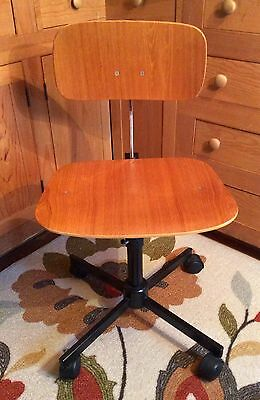MCM Rabami Stole Swivel KEVI Desk Chair~Jørgen Rasmussen Danish Modern Plywood