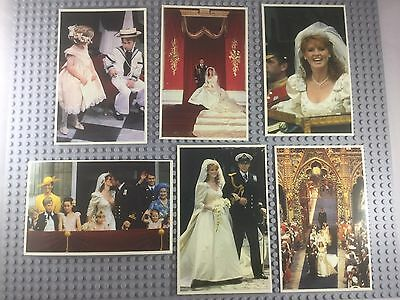 x6 Postcards: The Royal Wedding 1986 (Majesty Collectors' Cards) Unused