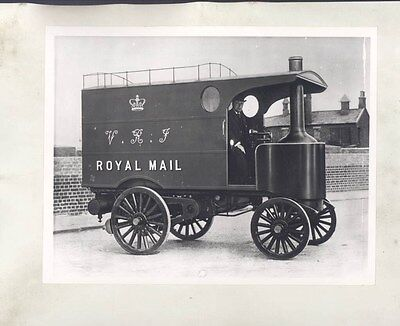 1910 ? Leyland Royal Mail Steam Truck ORIGINAL Factory Photograph wy0308