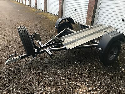 Motorcycle Trailer (Single, custom built with wheel-chock and suspension)