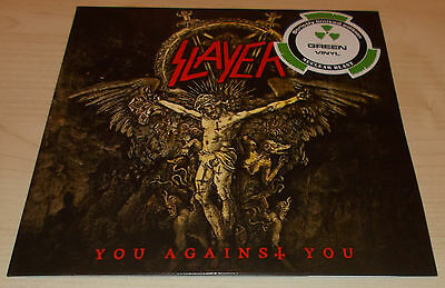 """Slayer-You Against You-2016 Green Vinyl 7""""-Ltd To 300 Only-New"""