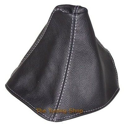 Fits Cadillac Cts V 2004-2007 Gear Stick Gaiter Black Leather Grey Stitching