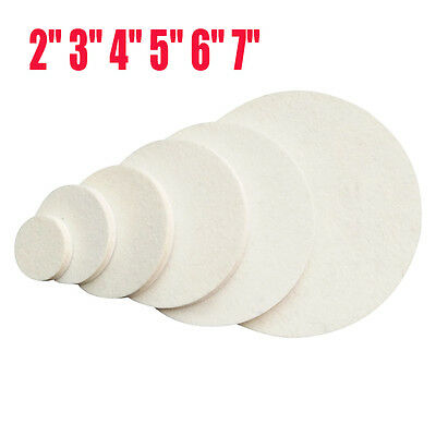 "2"" 3"" 4"" 5"" 6"" 7"" Wool Buffing Pad Polishing Backing Buffer for Car Polisher LOT"