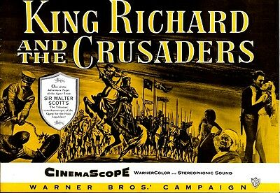 KING RICHARD AND THE CRUSADERS pressbook, Rex Harrison, Virginia Mayo