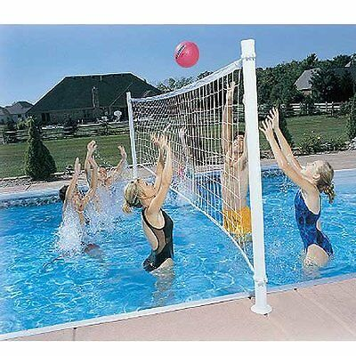 Dunn Rite Pro Volly Retrofit Swimming Pool Volleyball Ball Net Kit Play New