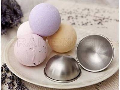 """Stainless Steel Bath Bomb Molds  3 full Molds 3"""" Large Size Canadian Distributor"""