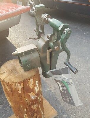 VINTAGE COLE POST VISE and DRILL PRESS  antique