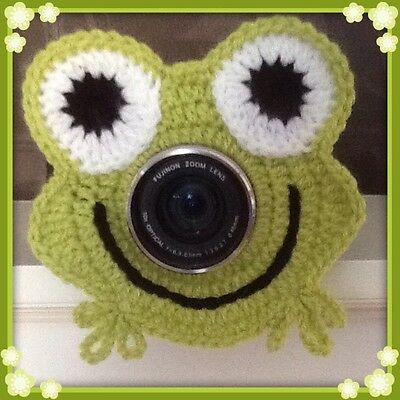 Camera Lens Buddy, Cute Novelty Frog! Handmade, Photo Prop, Baby Shower Gift