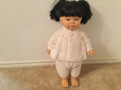 "Berjusa Anatomically Correct 19"" Asian Baby Girl Doll"