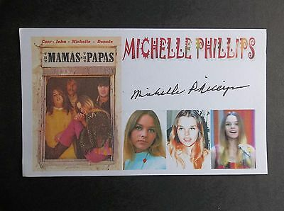 Michelle Phillips (The Mamas And The Papas) Autographed 3x5 Index Card