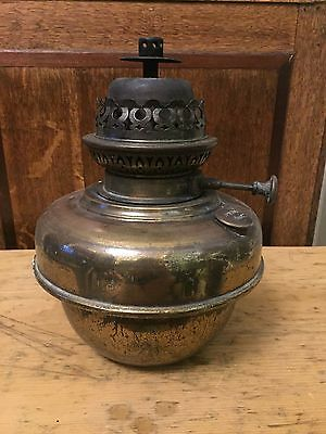 Antique Victorian Early Veritas Brass  Oil Lamp Base Burner
