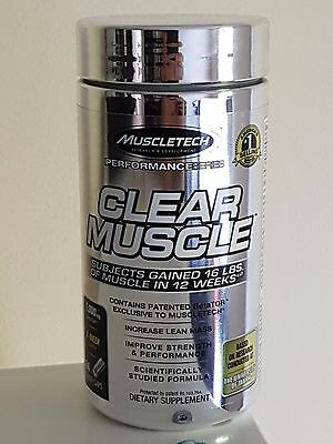 Muscletech Clear Muscle - 168 Liquid Caps- Build Muscle & Strength - 2018 Expiry