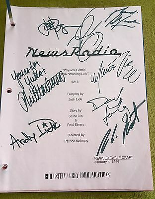 Original 1996 News Radio Script Signed by Entire Cast - Rare!