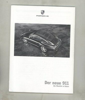 2009 Porsche 911 997 Accessories Prices Prestige Brochure German d1062