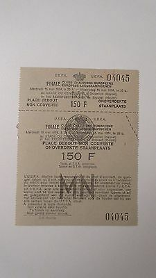 UNUSED 1st EVER 1974 EUROPEAN CUP FINAL Bayern Munchen v Atletico Madrid munich