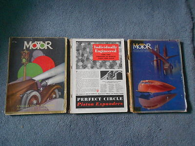 1933 1934 Jan 1935 Nov Motor Annual Show Number Lot Of 3 Auto Industry Ads Info