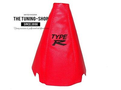 """For Honda Accord 2003-07 Gear Stick Gaiter Red Leather """"TYPE R"""" Embroidery"""
