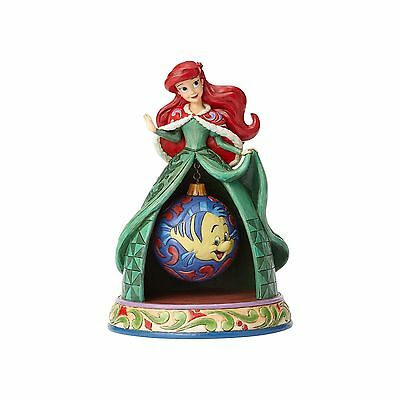 Disney Traditions Jim Shore Ariel Christmas Resin Figurine New with Box