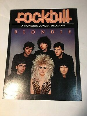 Blondie Concert Program -  Rockbill from 1982 Tour - Hard To Find Poster Foldout