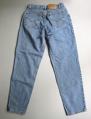 Vintage Levi's Mom Jeans Size 12 High Waist Tapered Relaxed Blue 30
