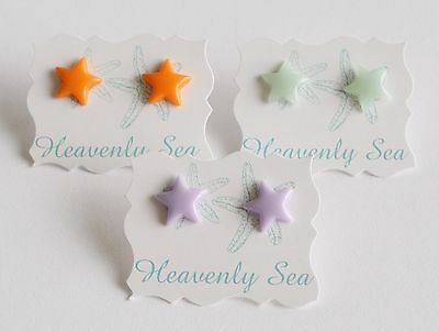 Set Of 3 Assorted Tiny 1/2 Inch Star Stud Earring Set