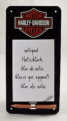 Collectable Harley Davidson Metal Notebook Message/Memo Board, Fridge/Home New