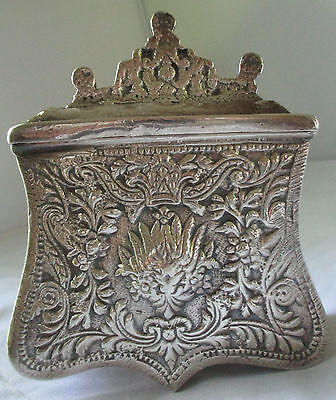Antique Ottoman Silver Palaska Cartridge Box Holder Case