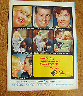1963 Movie Ad MOVE OVER DARLING Doris Day James Garner Polly Bergen