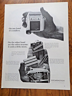 1965 Remington Lektronic II Shaver Ad