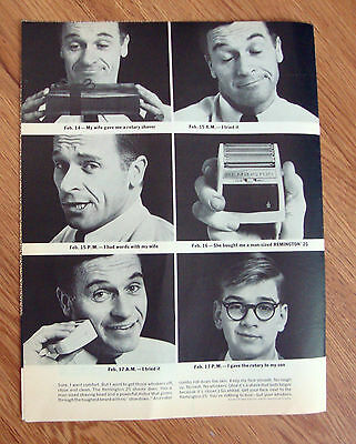 1963 Remington Electric Shaver 25 Ad  Shaving Theme