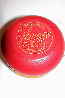 Old Alox Mfg Co Flying Disc Yo-Yo Vintage Antique Wood Wooden Toy Yoyo Kids Play