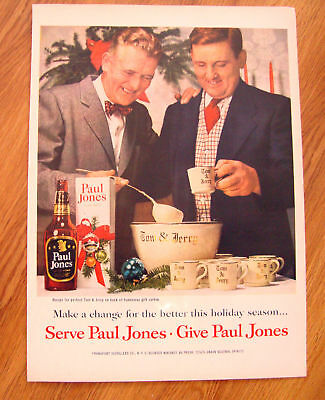 1954 Paul Jones Whiskey Ad -Christmas Theme