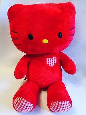 """Hello Kitty Red Soft Plush Toy. Build A Bear 18"""" Tall ."""