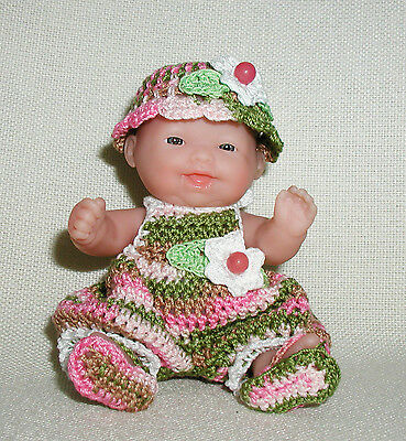 """Variegated Sun Suit OUTFIT ONLY for the 5"""" Itty Bitty Baby by Berenguer."""